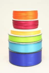 Satinbänder in 6 Breiten von 3 bis 40 mm