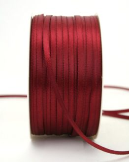 Satinband 3mm, uni bordeaux - satinband-budget, sonderangebot, satinband