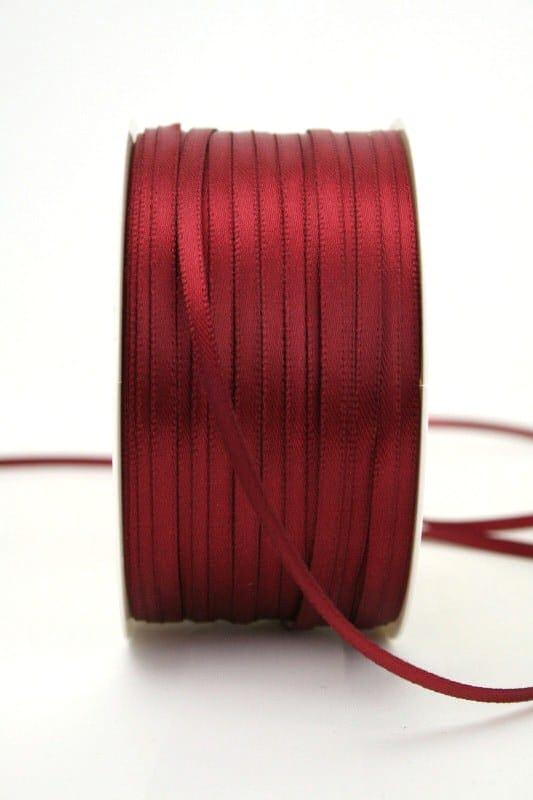 Satinband 3mm, uni bordeaux - sonderangebot, satinband-budget, satinband