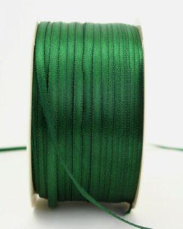 Satinband 3mm, uni dunkelgrün - satinband-budget, sonderangebot, satinband, hochzeitsbaender, kommunion-konfirmation