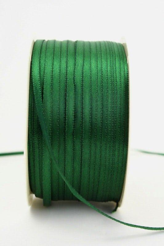 Satinband 3mm, uni dunkelgrün - sonderangebot, satinband-budget, satinband, hochzeitsbaender, kommunion-konfirmation