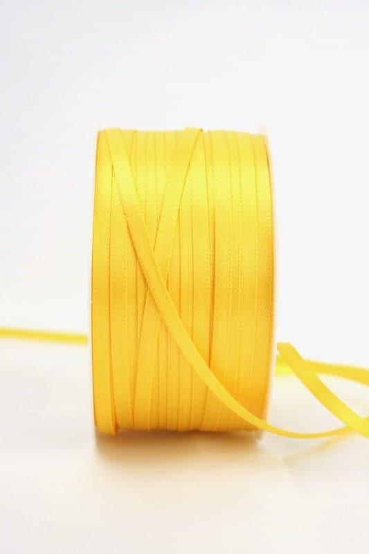 Satinband 3mm, uni gelb - sonderangebot, satinband-budget, satinband
