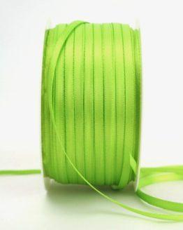 Satinband 3mm, uni hellgrün - sonderangebot, satinband-budget, satinband