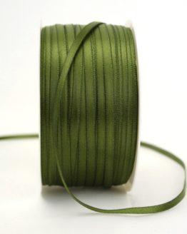 Satinband 3mm, uni olivgrün - sonderangebot, satinband-budget, satinband, hochzeitsbaender, kommunion-konfirmation