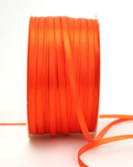 Satinband 3mm, uni orange - satinband-budget, sonderangebot, satinband