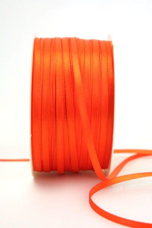 Satinband 3mm, uni orange - sonderangebot, satinband-budget, satinband