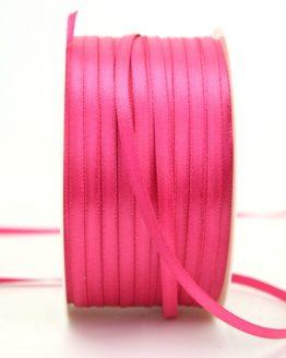 Satinband 3mm, uni pink - satinband-budget, sonderangebot, satinband