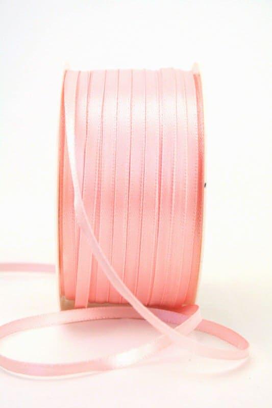 Satinband 3mm, uni rosa - sonderangebot, satinband-budget, satinband