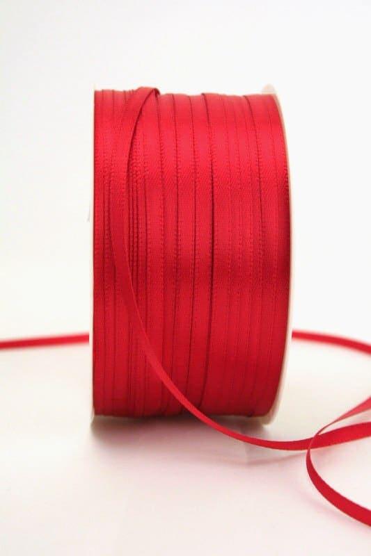 Satinband 3mm, uni rot - sonderangebot, satinband-budget, satinband