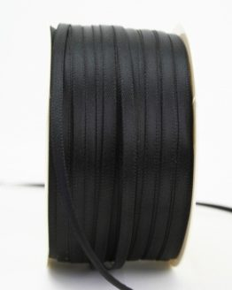 Satinband 3mm, uni schwarz - satinband-budget, sonderangebot, satinband