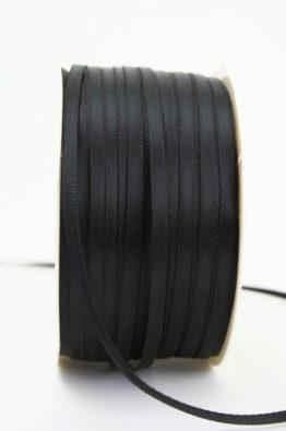 Satinband 3mm schwarz Low Budget (4031903-03-113)