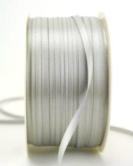 Satinband 3mm, uni grau - satinband-budget, sonderangebot, satinband