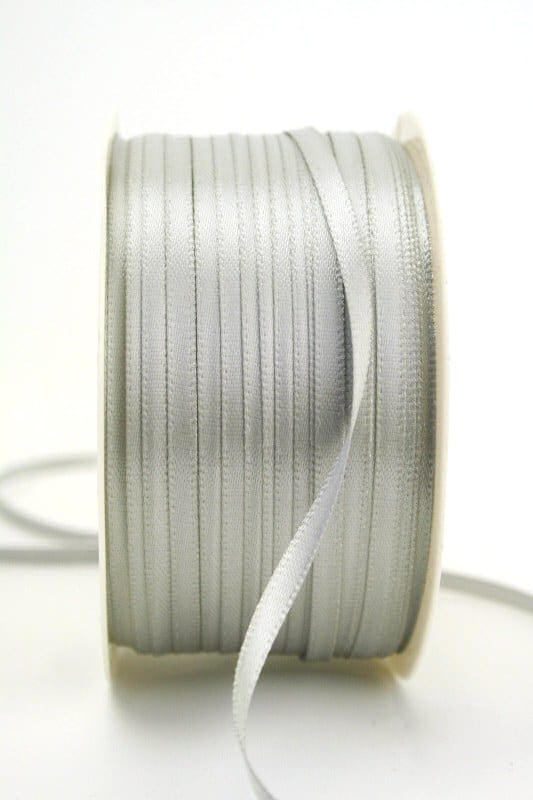 Satinband 3mm, uni grau - sonderangebot, satinband-budget, satinband