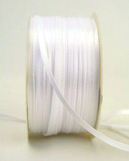 Satinband 3mm, uni weiß - satinband-budget, sonderangebot, satinband, hochzeitsbaender, kommunion-konfirmation