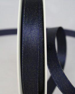 Satinband mit Goldglimmer, blau, 15 mm breit - weihnachtsband
