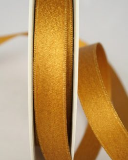 Satinband mit Goldglimmer, kupfer-gold, 15 mm breit - weihnachtsband