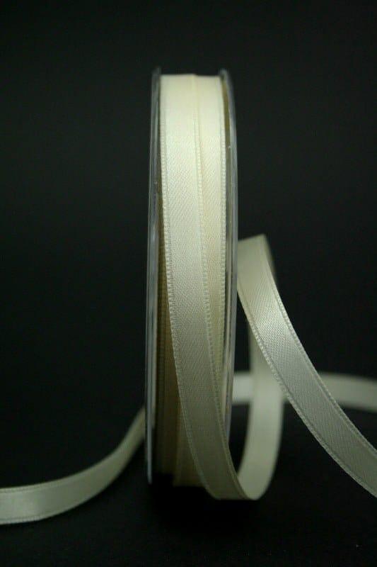 Doppelsatinband creme, 10 mm breit - hochzeitsbaender