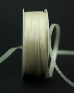 Doppelsatinband creme, 6 mm breit - hochzeitsbaender