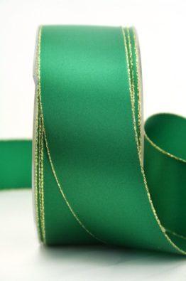Satinband grün mit Goldkante (70147-40-555)