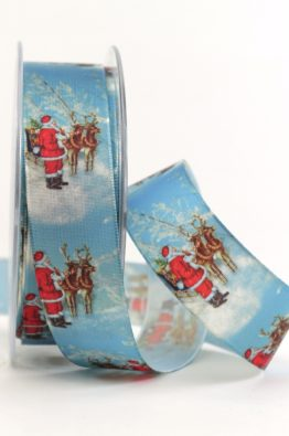 Satinband nostalgische Weihnacht 25mm (62845425150525)