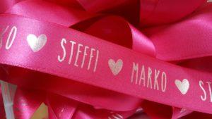 Individuelle Hochzeitsbänder -