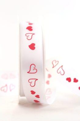 Satinband rote Herzen 25mm (940272500125)