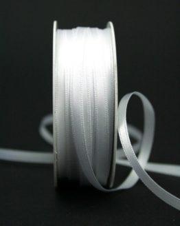Doppelsatinband weiß, 6 mm breit - hochzeitsbaender