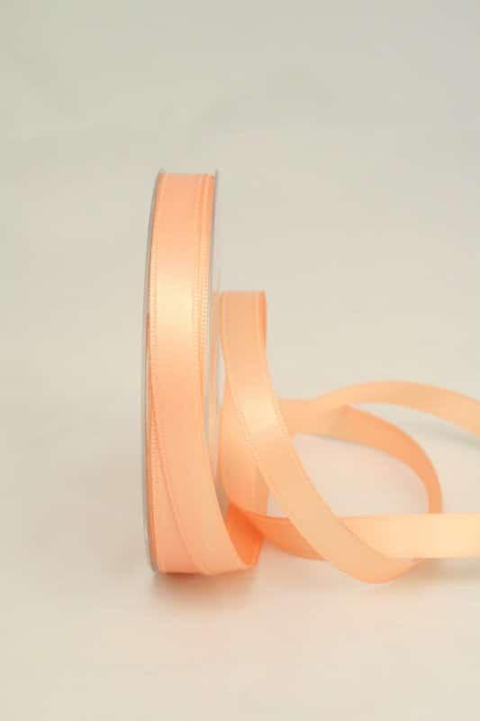 apricot-farbenes Satinband in 10 mm Breite