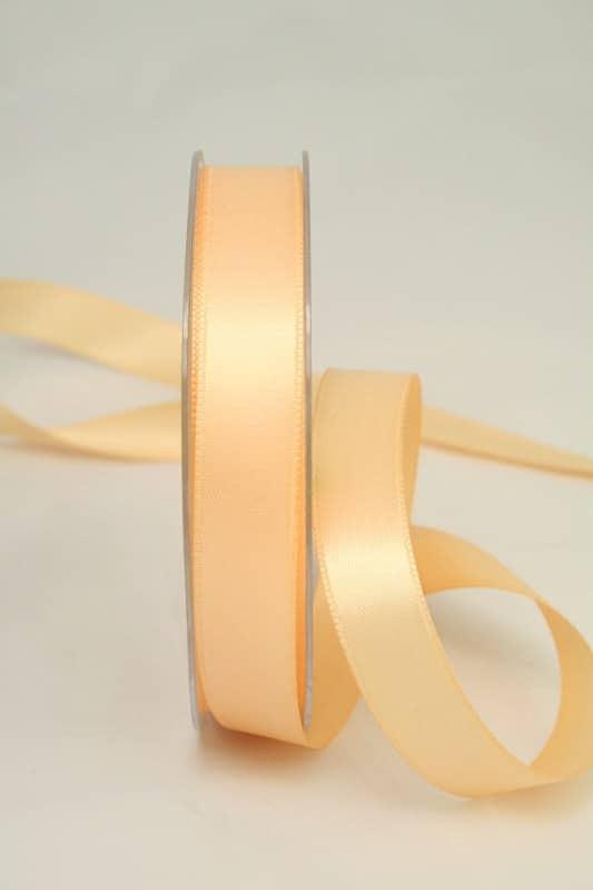 Satinband apricot, 15 mm breit