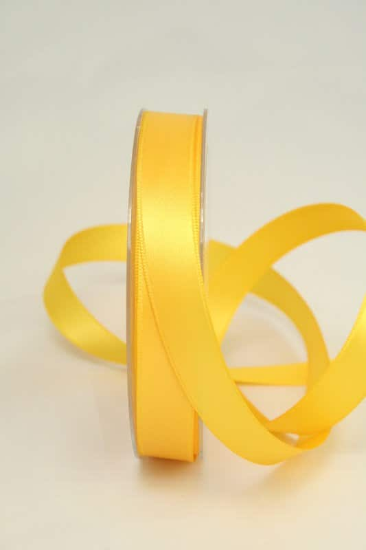 sonnengelbes Satinband 15 mm breit