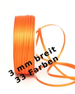 Satinband 3 mm - dauersortiment, satinband