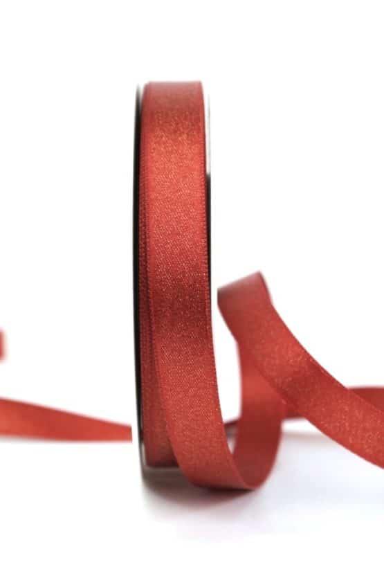 Satinband mit Goldglimmer, kupfer, 15 mm breit - weihnachtsband