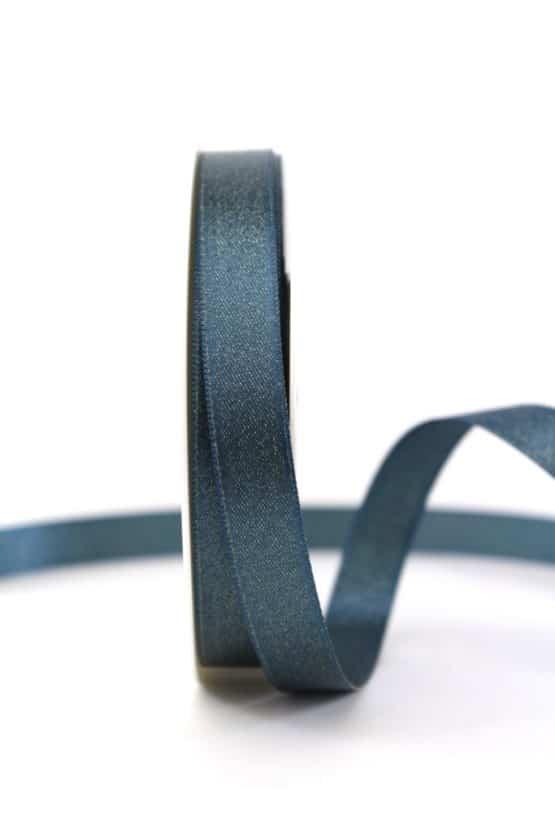 Satinband mit Goldglimmer, petrol, 15 mm breit - weihnachtsband