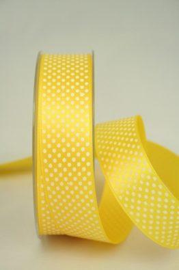 Satinband Pünktchen 70134 25mm gelb_215