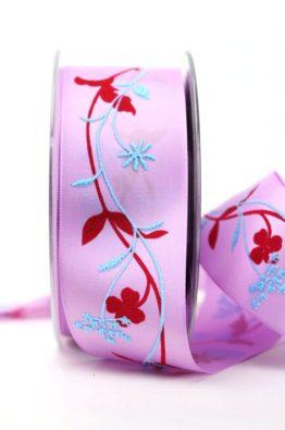 Satinband_rosa_pink_40mm_Blumenranke_(628951-40-1861)