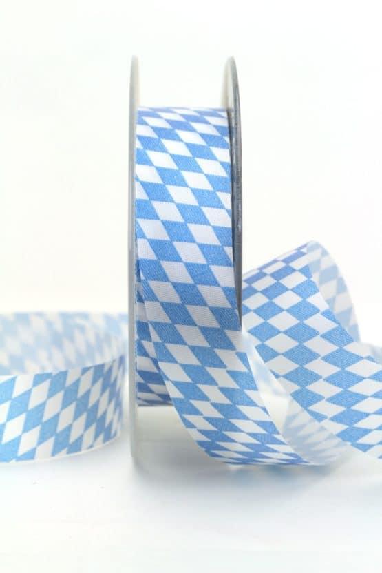 Dekoband Bayernraute, 25 mm - oktoberfest, nationalbander