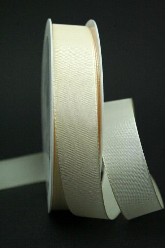Taftband creme, 25 mm breit - hochzeitsbaender