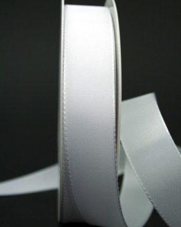 Taftband weiß, 25 mm breit - hochzeitsbaender