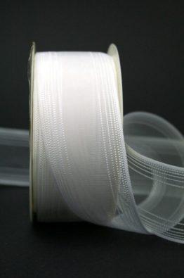Schleifenband Hochzeitsfloristik weiss 40mm (70111-40-700)