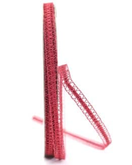 Schmale Dekolitze, rot metallic, 10 mm - weihnachtsband, dekogirlande
