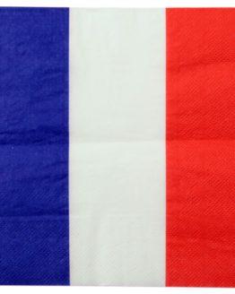 Serviette Frankreich / Holland / Schleswig-Holstein, 10 St. - nationalbander