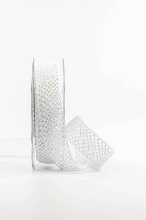 Lochband, weiß, 20 mm breit - spitzenbaender, hochzeitsbaender, anlaesse