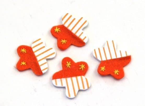 Streublüten orange, 24 St. Pack - streuartikel, hochzeitsaccessoires