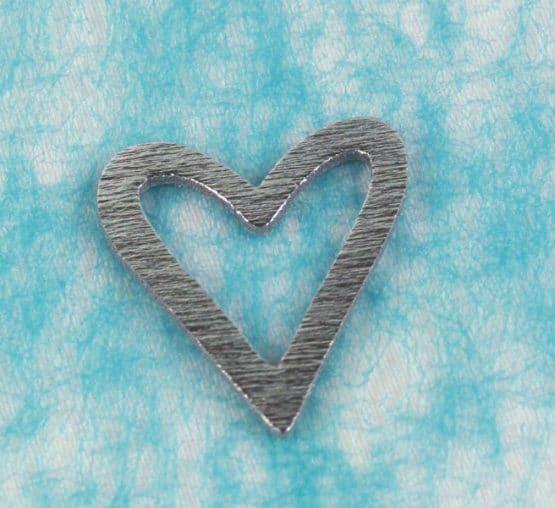 Streuartikel Herz silber, aus Holz - streuartikel, hochzeitsaccessoires