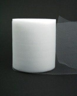 Tüll weiß, 100 mm breit - hochzeitsbaender