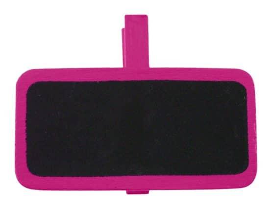 Tafel mit Klammer als Namensschild, pink - hochzeitsaccessoires, kommunion-konfirmation