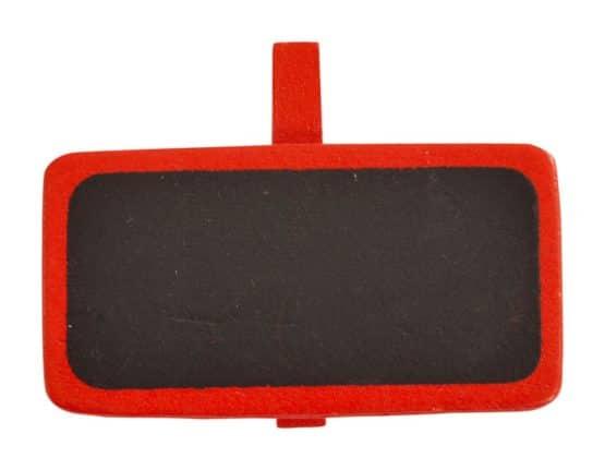 Tafel mit Klammer als Namensschild, rot - hochzeitsaccessoires, kommunion-konfirmation