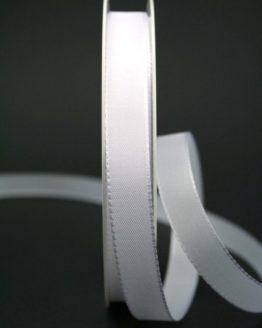Taftband weiß, 15 mm breit - hochzeitsbaender