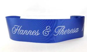 Bedrucktes Tischband für Ihre Feier - tischdekoration, tischband, personalisierte-bander