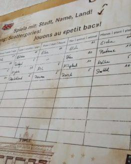 Tischset Stadt-Name-Land, 12 Bögen - hochzeitsaccessoires